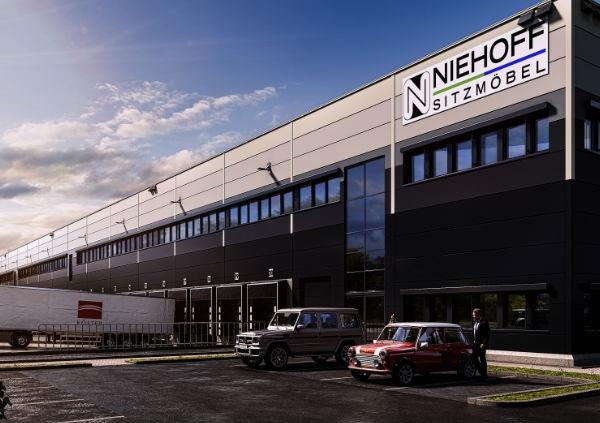 Logistikzentrum Neubau Seitenansicht